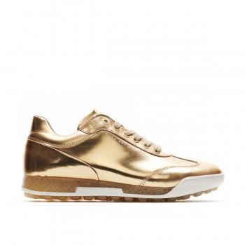 Ladies Designer Italian Golf Shoes. Silver or Gold WaterProof.