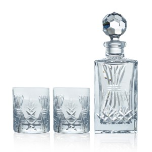 Crystal Decanter & Whiskey Tumblers